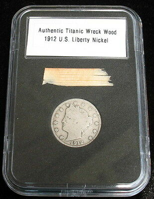 Authentic Rms Titanic Wood Relic And 1912 Liberty Nickel