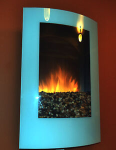 Dimplex Modern Recessed or Wall Mount Electric Fireplace