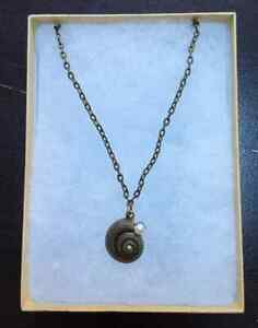 Bronze Seashell Necklace