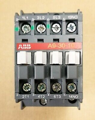 ABB A9-30-10-84 Contactor, 110 - 120 VAC Coil, 9 A at 3-Phase