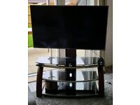 55inch led TV stand. Wood metal and glass