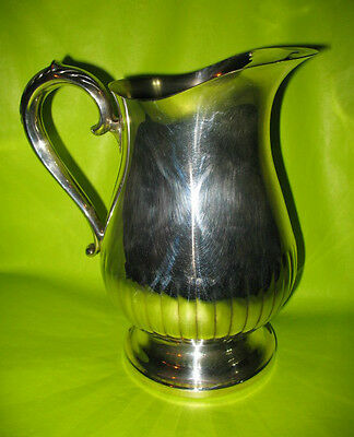 """9"""" Large Towle Silver Plate Ice Guard Water Tea Lemonade Pitcher Vase"""