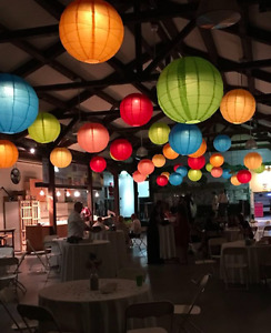 "40 paper lanterns (24 in"") special event or wedding decorations"