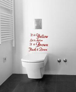 If It 39 S Yellow Toilet Wall Quote Vinyl Decor Sticker