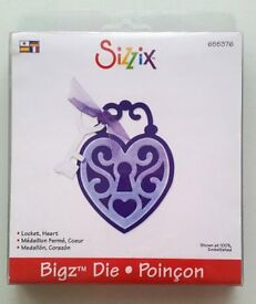 Sizzix Bigz Die ~ Heart Locket with key/papercrafting/card making/scrapbooking/wedding/engagement