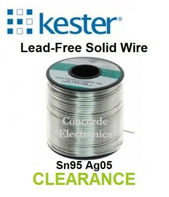Kester Lead Free Solid Wire Solder Sn95 Ag05 .125 14-7070-0125 Clearance