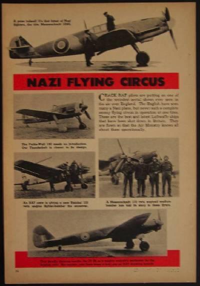 RAF Nazi Flying Circus 1944 pictorial Messerschmitt Junkers Focke-Wulf Heinkel
