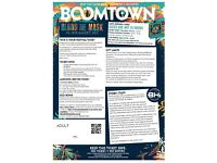 Boomtown Fair Festival tickets x 4 (full weekend camping and refundable eco bonds)