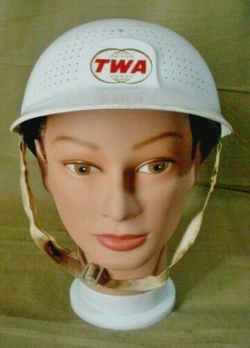 Vintage TWA Trans World Airlines GROUND CREW employee work HELMET