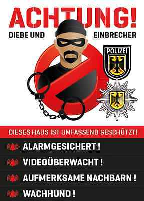 Aufkleber Sticker – Einbruchschutz, Sicherheit, Security, Alarm, Abschreckung
