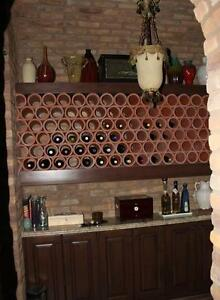 Clay Drainage Tiles for Wine Racks or Planters