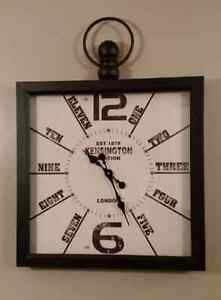 NEW - Large hanging square wall clock