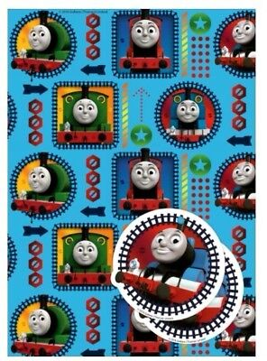 Official THOMAS and FRIENDS Gift Wrapping Paper Sheets and Tags 2 PACK New Seal (Thomas Wrapping Paper)