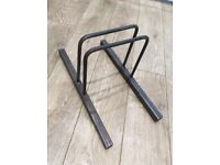 Polyboard Stands x 5 - Steel - custom made - Dalston Lane