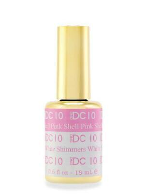 DND DC Mood Color Changing Gel .6 fl oz  - 10 SHELL PINK TO WHITE SHIMMERS