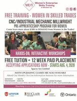 STUDY FOR FREE - Women in Skilled Trades Program at WEST Inc.