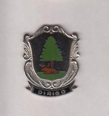 US Army Maine National Guard ARNG crest DUI badge c/b clutchback G-23
