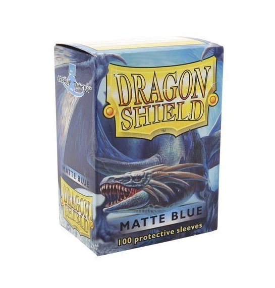 NEW DRAGON SHIELD MATTE BLUE CARD SLEEVES CARD PROTECTION EASE TO SHUFFLING