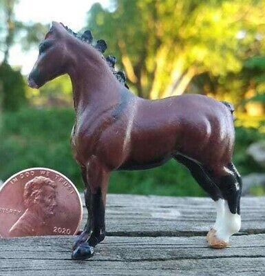 CM Custom Breyer MW Mini Whinny Whinnies Show Pose Draft Horse Belgian Percheron