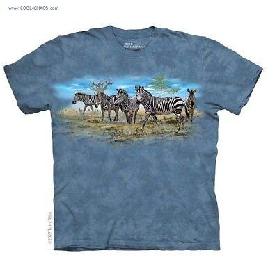 - Savannah Herd of Zebras T-Shirt / Cool Tie Dye,Zebra Tee,Tammy Alba Art Tee