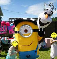 Visite/animation MASCOTTE à une fête d'enfant ? MINION MARIO etc