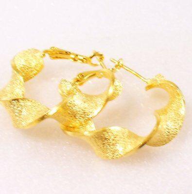 ringe Damen Mädchen 24K Vergoldet 25mm Sparkle UK (Gold Sparkle Ohrringe)