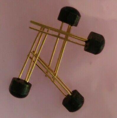Qty 4 Vintage 2n5133 Transistor Gold Leads Nos Original Fuzz Pedal