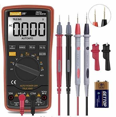 Digital Multimeter Meter Amp Ohm Voltmeter Auto Range Volt Tester Ac Dc New