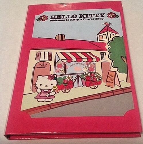 "Sanrio Hello Kitty Flower Shop Journal 2004 New Decorated Sheets 7 1/2"" x 5"" NEW"