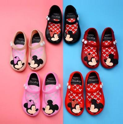 Kids Jelly Shoes Cartoon Mickey Minnie mouse Sandals Toddler mini grils shoes