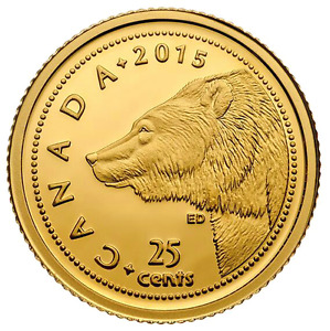 2015 GRIZZLY BEAR GOLD COIN - CANADA