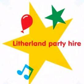 Litherland party hire/ chair covers, candy carts, djs