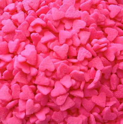 MINI PINK HEARTS Edible Confetti Sprinkles - 2.6 oz - Heart Sprinkles
