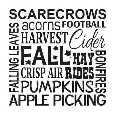 Fall Autumn STENCIL**scarecrows leaves harvest**12x12 for Signs Fabric Canvas