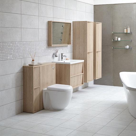 New Bathstore Brixton Field Matt Pale Light Grey Wall Tiles 248 X