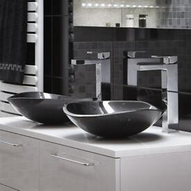 Kuro black MARBLE wash bowl sink basin bathroom **BRAND NEW BOXED** RRP £259 !!