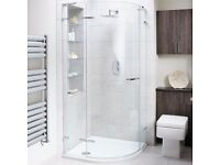 Liquid 900 quadrant shower door (£999 RRP) USED ONCE ONLY