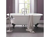 Brand new Cambridge free standing bath with cast iron feet