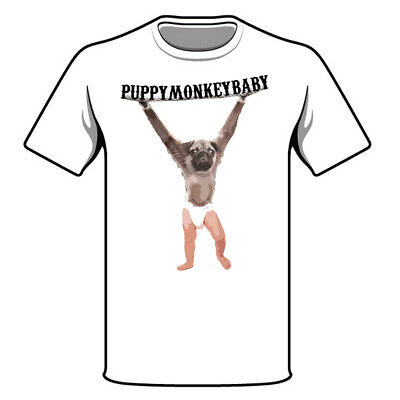 PUPPY MONKEY BABY SHIRT SUPER BOWL COMMERCIAL FUNNY WEIRD CREEPY MTN DEW PATRIOT (Puppy Monkey)