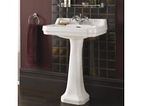 Bath Store Edwardian Basin with pedestal, mixer tap and waste