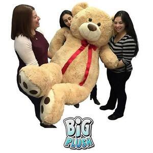 "NEW BIG PLUSH 72"" TEDDY BEAR TAN OVERSIZED GIANT STUFFED ANIMALS TEDDY BEARS 107293404"