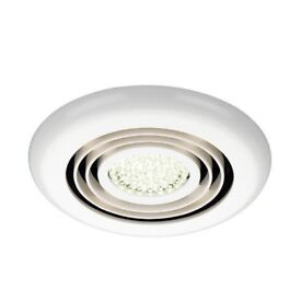 Rapide Inline Bathroom LED extractor fan - white