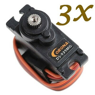 3X Servo Corona DS939MG Digital Metall  0,13sec 2,7kg 12,5g 450 Heli G-215 m3
