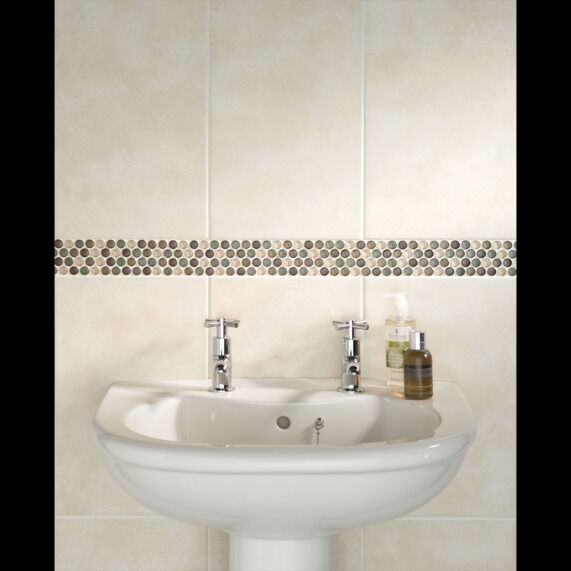 Bathstore Euston limestone wall tiles   matching floor tiles. Bathstore Euston limestone wall tiles   matching floor tiles   in