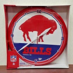 Buffalo Bills NFL FOOTBALL Team Logo Red Standing Buffalo WALL CLOCK New Sealed