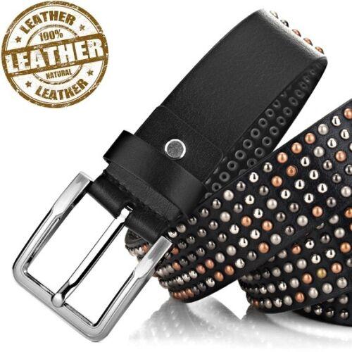 Real Leather Studded  Belt  RRP 99.95 Biker Punk Gothic Rocker NEW