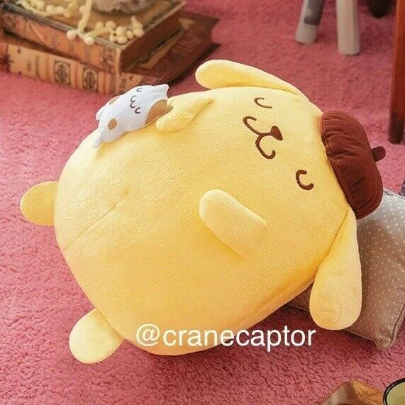 35cm Sanrio Japan Pom Pom Purin Pompompurin Muffin Doll Plush Good Night Sleep