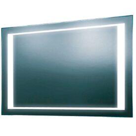 Rectangular illuminated mirror. BRAND NEW.