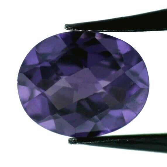 COLOR CHANGE CORUNDUM 9 x 7 MM OVAL CUT CHECKEBOARD TOP MAN MADE F-2951