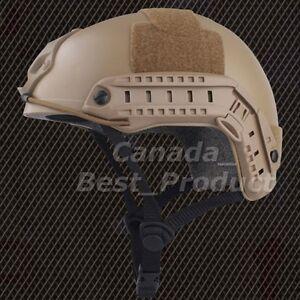 Tactical-Airsoft-Fast-Helmet-Low-Price-Version-w-Rails-NVG-Mount-DE-Tan-he27